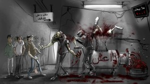 Vereinigte Staaten werfen Cartoons über Raqqa ab
