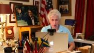 Unverhoffte Prominenz: Jeffrey Lord an seinem Schreibtisch zu Hause in Camp Hill