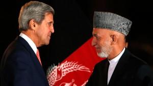 Kerry und Karzai erzielen nur Teileinigung
