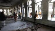 Die Moschee in Kabul nach dem Anschlag