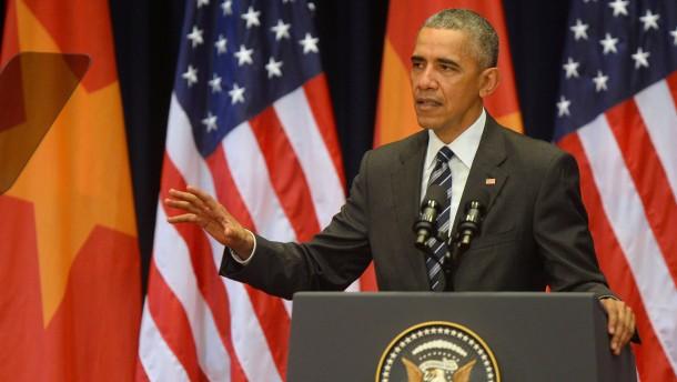 Obama plädiert für friedliche Lösung