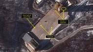 Satellitenaufnahmen der nordkoreanischen Raketentestanlage zeigen erhöhte Aktivität.