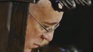 Papst Franziskus am Sonntag während des Gottesdienstes in der orthoxen Georgskathedtrale in Istanbul