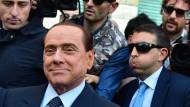 Triumph: Silvio Berlusconi nach dem Freispruch in zweiter Instanz im April 2014
