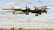 Russische Bomber über der Nordsee