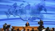 Der russische Präsident Putin sieht seine Gegner vor allem im Westen des Landes.
