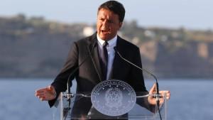 Renzi will mit Bedacht handeln
