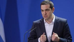 Gefesselter Tsipras