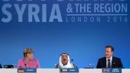 Gut zehn Milliarden Dollar brachte die Geberkonferenz in London ein.
