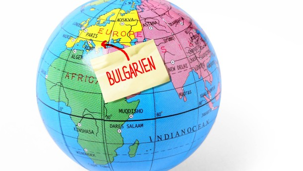 Bleistiftanspitzer Globus - Fotoillustration Bulgarien