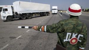 Russischer Konvoi steuert Separatisten direkt an