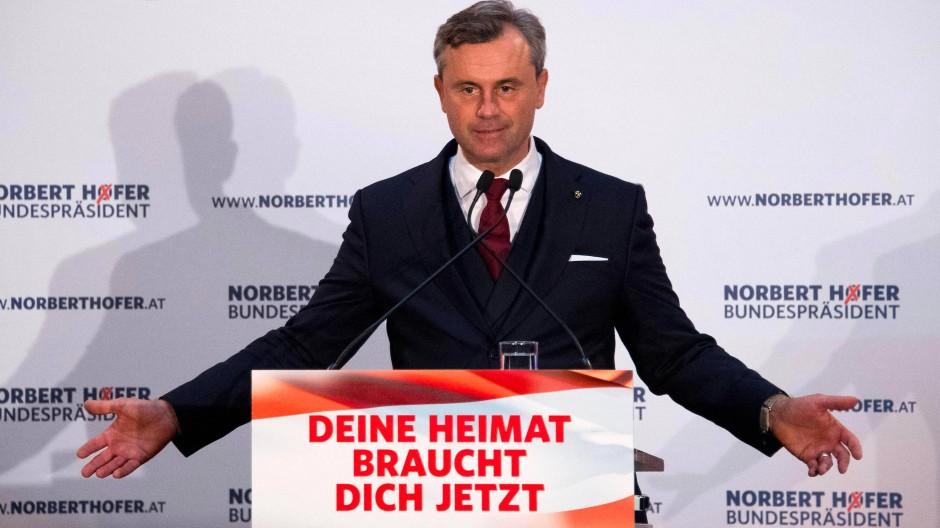 Der FPÖ-Kandidat für das Bundespräsidentenamt Norbert Hofer will, dass Österreicher wieder stolz auf ihr Land sind.