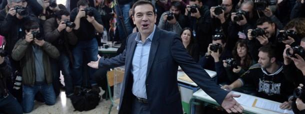 Wahlsieger: Alexis Tsipras am Sonntag in Athen.
