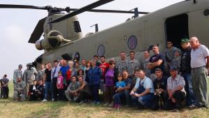 Amerikanische Hubschrauber verirrt
