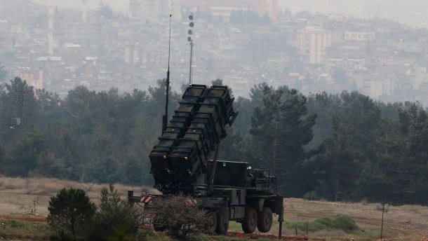 The Patriot system is pictured at a Turkish military base in Kahramanmaras
