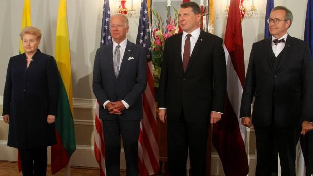 Biden verspricht Balten Beistand