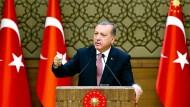 Verteidiger des Rechtsstaats? Der türkische Präsident Erdogan im August in Ankara.