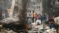 Aleppo ist zu großen Teilen zerstört.