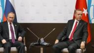 Erdogan wirft Putin Täuschung vor