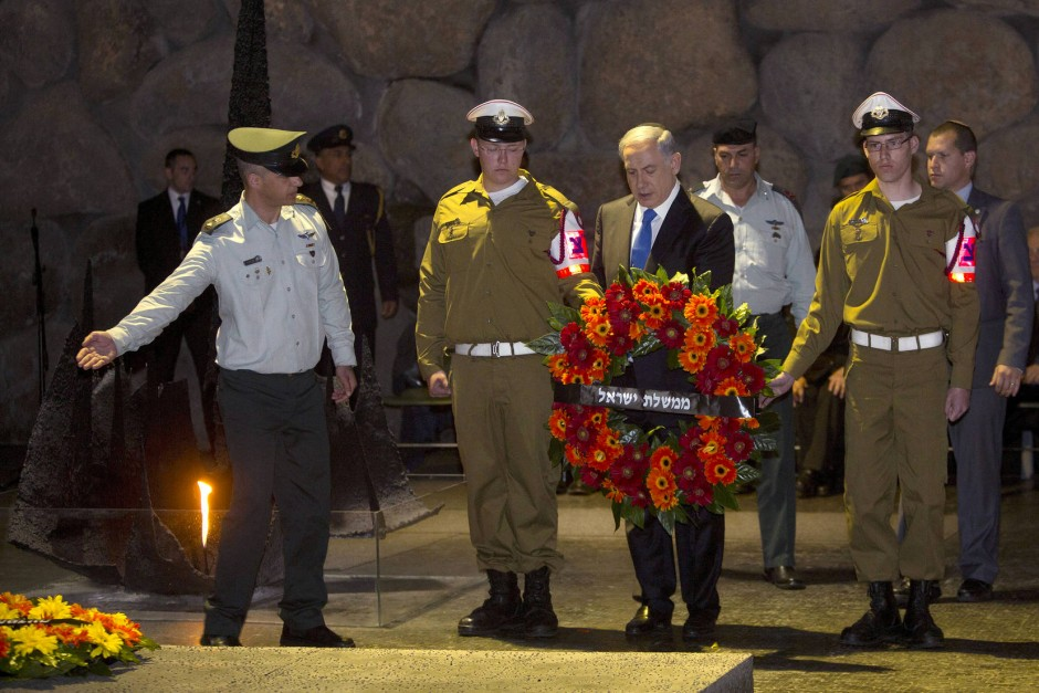Der israelische Premierminister Benjamin Netanjahu am Mittwoch in der Gedenkstätte Yad Vashem.