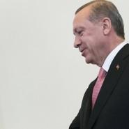 """Der türkische Präsident Erdogan und sein """"lieber Freund Wladimir"""" im August in St. Petersburg."""