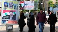 Nur die Bevölkerung in den vom Regime kontrollierten Gebieten konnte an den Parlamentswahlen teilnehmen.