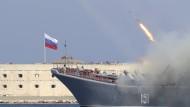 Moskau schießt Raketen von Schiffen im Kaspischen Meer