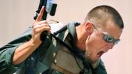 Ein Söldner der Firma Blackwater bei der Ausbildung 2006 in Moyock (North Carolina)