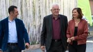 """Vertreter des Rocks: Özdemir, Kretschmann und Göring-Eckardt. Doch auch die """"Hemd-Wähler"""" sollen erreicht werden."""