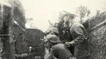 Eine deutsche Stellung bei den Masurischen Seen während der Schlacht von Tannenberg