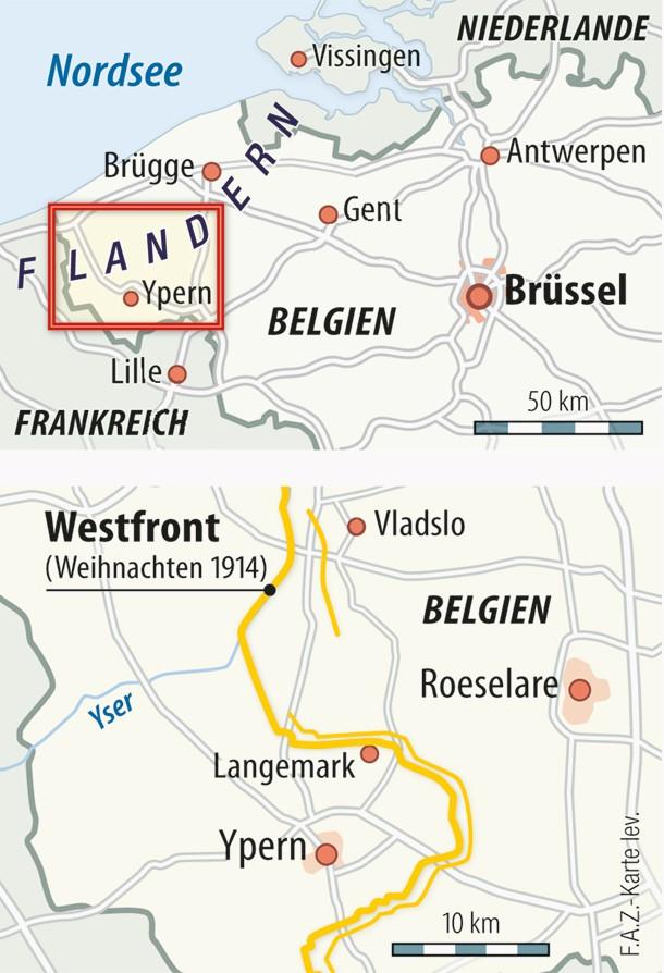 Schlachtfelder Des 2 Weltkriegs Karte.Ypern Gedenken An Gefallene Soldaten Aus Erstem Weltkrieg