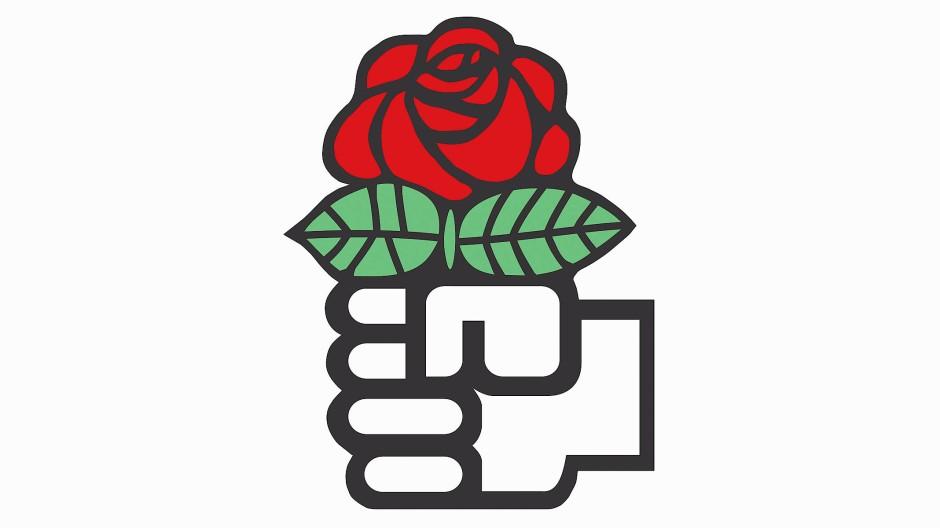 """Rose in Faust: Das Symbol der """"Sozialistischen Internationale"""""""