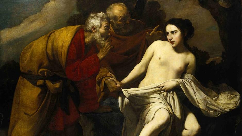 Massimo Stanzione, Susanna und die beiden Alten, um 1630, Öl auf Leinwand, Städtische Galerie im Städelschen Kunstinstitut, Frankfurt am Main.