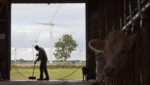 Reußenköge - Die Gemeinde ist durch Windenergie reich geworden, weil sie zu den ersten gehörte, die die Chancen durch die neue Technologie erkannten.