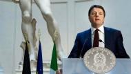 Matteo Renzi im Januar vergangenen Jahres in Florenz, der Stadt, in der er Bürgermeister war.