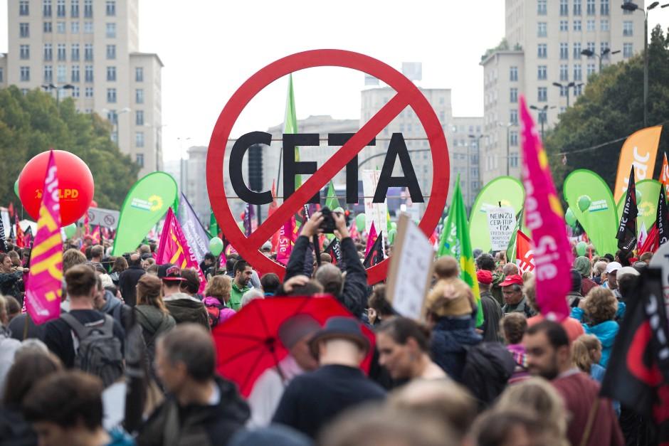 Proteste gegen Ceta in Berlin