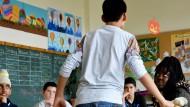 """In Hessen erlernen Flüchtlinge in """"Intensivklassen"""" die deutsche Sprache."""