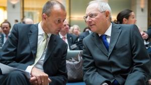 Schäuble will für Merz stimmen