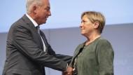 Thomas Strobl, Landesvorsitzender der CDU Baden-Württemberg, und Susanne Eisenmann, Spitzenkandidatin für die Landtagswahl 2021, am Samstag auf dem Parteitag in Heilbronn