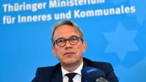 """Thüringer Minister droht Anhängern des AfD-""""Flügels"""""""
