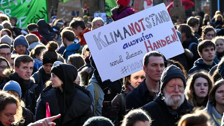Eine Demonstration für mehr Klimaschutz im November in Köln