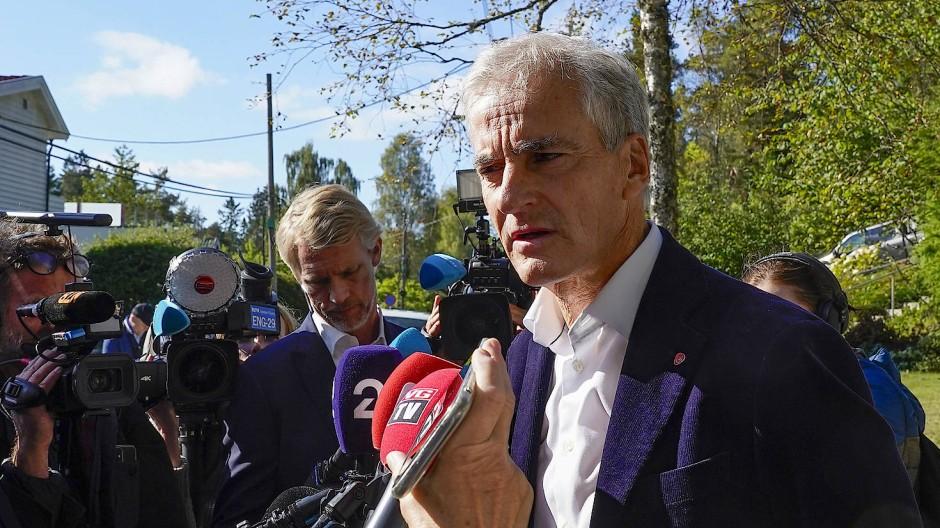 Wahlgewinner: Jonas Gahr Støre, Vorsitzender der Sozialdemokraten in Norwegen, am Dienstag in Oslo