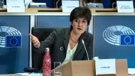 Sylvie Goulard bei ihrer Anhörung im Europäischen Parlament am 10. Oktober 2019. Nach dem Termin wurde sie als EU-Kommissarin in Ursula von der Leyens neuer Kommission abgelehnt.