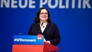 Die erste Frau an der Spitze der SPD: Andrea Nahles