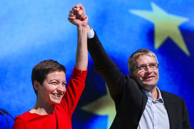 Mit dem Rückenwind der europäischen Fahne: Das grüne Spitzenduo für die Europawahl, Ska Keller und Sven Giegold
