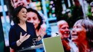 Die Grünen-Ko-Vorsitzende Annalena Baerbock, hier am Montag in Berlin, soll ihre Partei als Kanzlerkandidatin in die Bundestagswahl führen.
