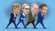 Laufen sie noch auf dem Boden des Grundgesetzes? Jörg Meuthen, Alice Weidel, Alexander Gauland und Björn Höcke