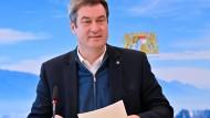 Der bayerische Ministerpräsident Markus Söder in der vergangenen Woche bei einer virtuellen Kabinettssitzung in München