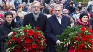 Noch zu viert: Sahra Wagenknecht, Dietmar Bartsch, Bernd Riexinger und Katja Kipping gedachten im Januar dieses Jahres Rosa Luxemburg in Berlin.