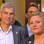 Wollen nicht mit der CDU: das grüne Spitzenduo für die Landtagswahl Antje Hermenau (rechts) und Volkmar Zschocke